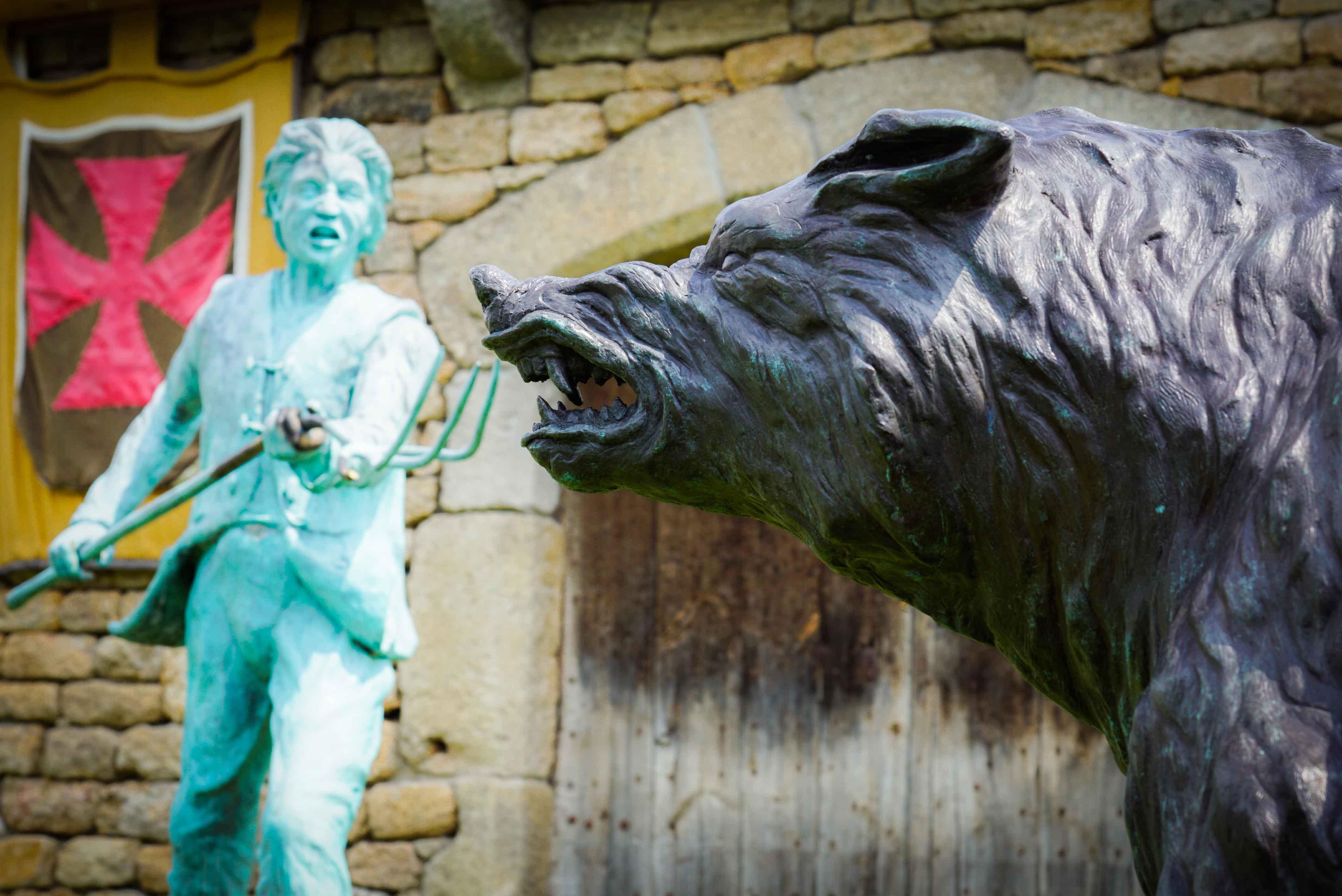 Statue de la Bête – Le Malzieu-Ville ©Jean-Sébastien Caron
